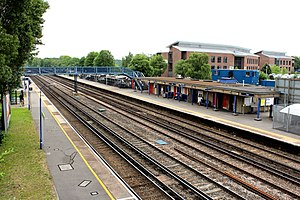Fleet railway station - Image: Fleet Stn from NW