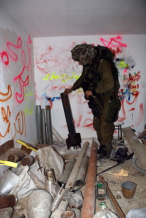 Hamas - Weapons found in a mosque during Operation Cast Lead, according to the IDF