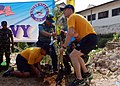 Flickr - Official U.S. Navy Imagery - U.S. and Indonesian sailors plant a tree at Kwanyar Village School during Cooperation Afloat Readiness and Training Indonesia 2012..jpg