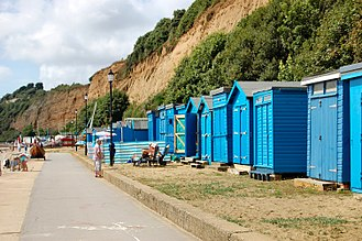 Lake, Isle of Wight - Beach huts at Lake
