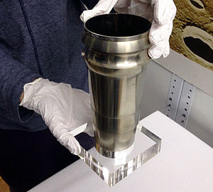 Orbiting Astronomical Observatory - A flight spare of the grazing incidence mirror built for OAO-3 (Copernicus). The mirror was part of the X-ray telescope built by University College London. It is now held in the collections of the Science Museum, London.