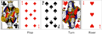 Flop, turn and river in community card poker v...