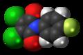 Fluoromide molecule spacefill.png