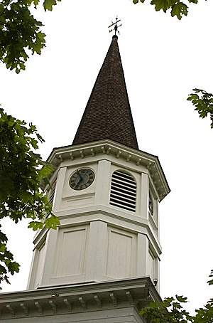 National Register of Historic Places listings in Lexington, Massachusetts - Image: Follen Community Church steeple