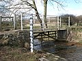Footbridge over Cor Burn at the ford - geograph.org.uk - 713482.jpg