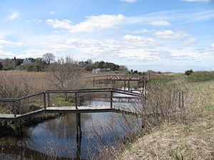 Warren Cove (Massachusetts) - Footbridges over the Eel River in Warren Cove