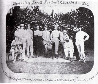 Wanderers F.C. - The only known photo of the team, taken in 1863 when the club was still known as Forest F.C.