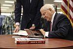 Former Secretary of Defense Gates visits Miramar for book signing 160201-M-HJ625-003.jpg
