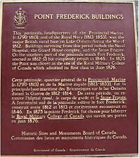 Fort Frederick plaque at Royal Military College of Canada.jpg