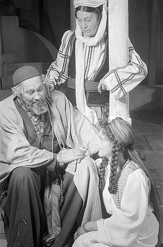 Paul Wegener - Image: Fotothek df pk 0000018 030 Paul Wegener in der Titelrolle, Agathe Poschmann als Recha, Kai Möller als Sulta