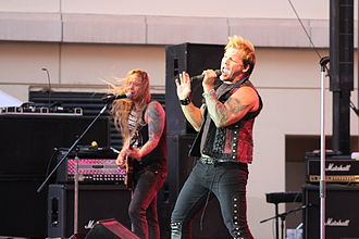 Fozzy - Fozzy performing at the El Paso Downtown Street Festival in 2014