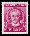 Fr. Zone Rheinland-Pfalz 1949 47 Johann Wolfgang von Goethe.jpg