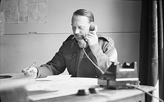 Freddie de Guingand - Major General de Guingand, Chief of Staff 21st Army Group, at his desk, 1944
