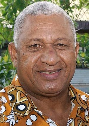 Fijian general election, 2014 - Image: Frank Bainimarama September 2014