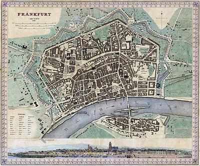 Stadtplan von 1845