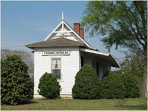 Franklinton Depot - The historic Franklinton Depot located in Franklinton, North Carolina.