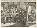 Frederik Hendrik legt de eed af als stadhouder en neemt zitting in de Staten van Holland, 1625 Afbeeldinge hoe de nieuwe stadthouder, Fredrick Hendrick, prince van Orangie aen de G.M. Heren Staten van Hollandt den eedt , RP-P-OB-81.123.jpg