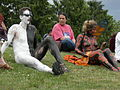 Fremont Solstice Parade 2007 - naked cyclists relax.jpg