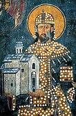 Стефан Драгутин на фресци у цркви Светог Ахилија у Ариљу