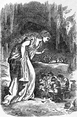 Sörla þáttr - Freyja in the Dwarfs' Cave, illustration by Louis Huard