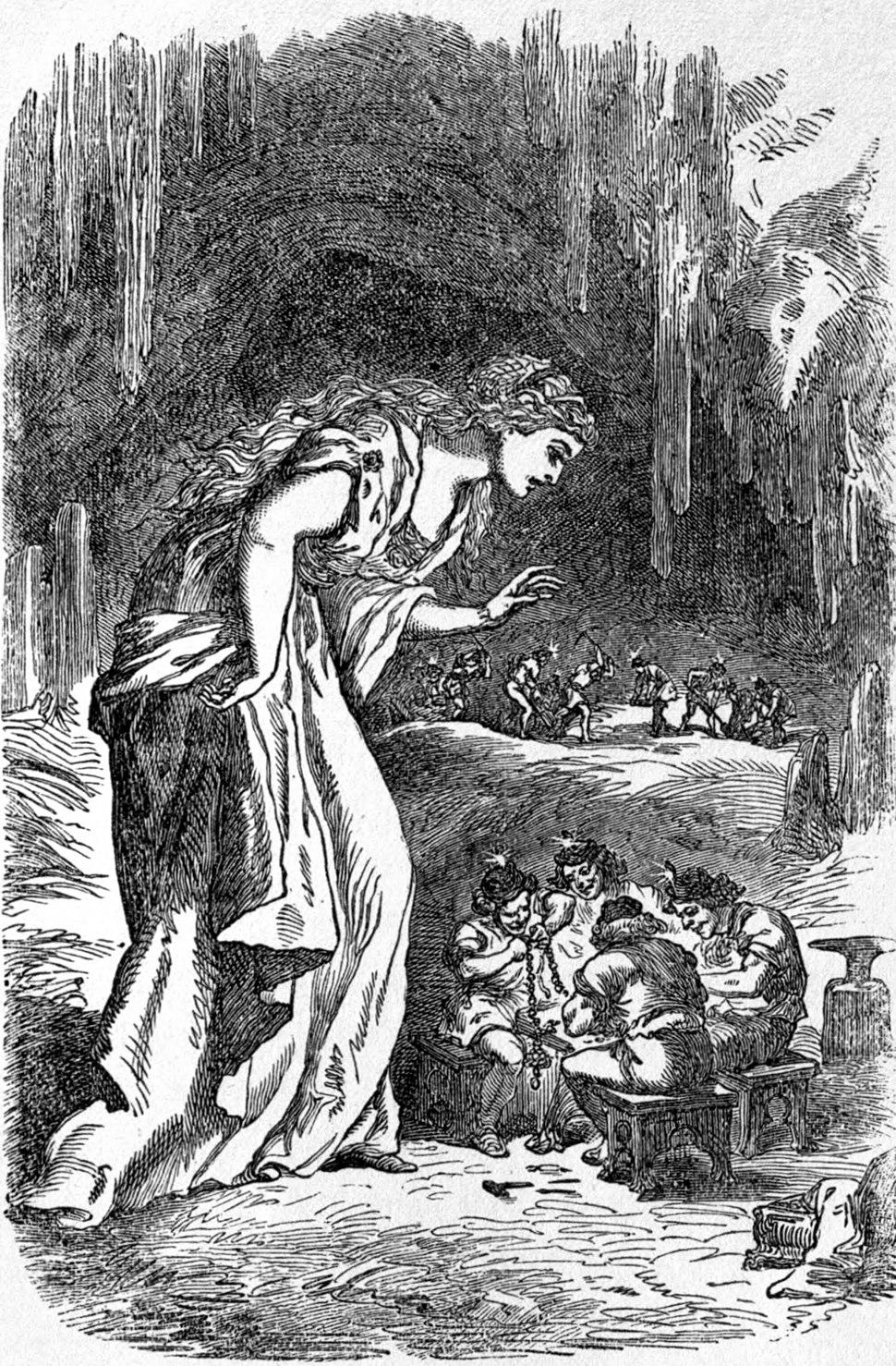 Freyja in the dwarfs' cave