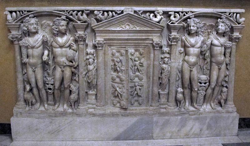 File fronte di sarcofago con le quattro stagioni 250 dc - Le finestre di fronte ...