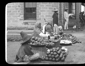 La Barca (municipality) - Fruit Vendors, la Barca train station, before 1901
