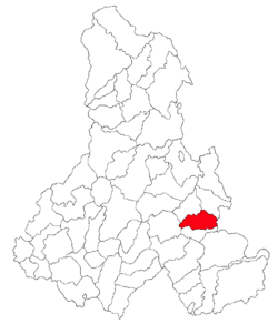 Location of Frumoasa, Harghita