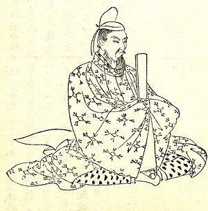 Fujiwara no Nagara - Illustration by Kikuchi Yōsai, from Zenken Kojitsu
