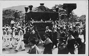 Death and state funeral of Liliuokalani - Image: Funeral Procession of Liliuokalani (PP 26 7 004)