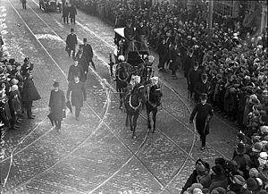 William Walsh (archbishop of Dublin) - Funeral procession for Dr. Walsh, 14 Apr. 1921
