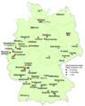 Fussball-Bundesliga Mannschaften je Ort in Deutschland 2014-2015.png