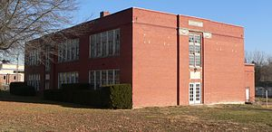 National Register of Historic Places listings in Callaway County, Missouri - Image: G. W. Carver School (Fulton, MO) from SW 2