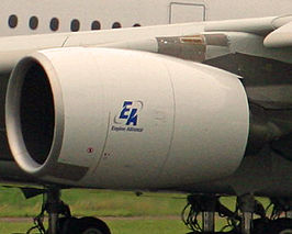 Een Engine Alliance GP7200 aan de Airbus A380