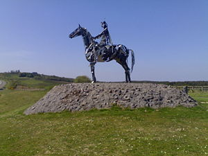 "Hugh Roe O'Donnell - ""The Gaelic Chieftain"", a modern sculpture commemorating O'Donnell's victory at the battle at Curlew Pass in 1599"