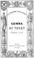 Gaetano Donizetti - Gemma di Vergy - frontispiece of the libretto - Milan 1834.png