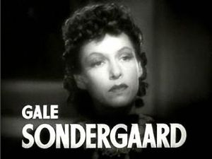 Gale Sondergaard - in the trailer for Dramatic School (1938)