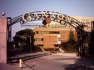 Gannon University - The well-known Gannon University arch on West Seventh Street in Erie, PA
