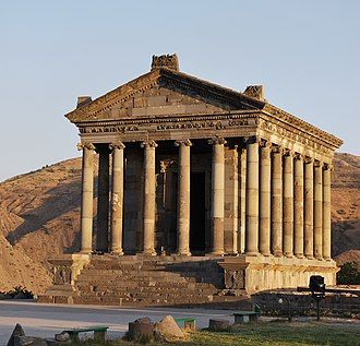 "Armenia - The pagan Garni Temple, probably built in the first century, is the only ""Greco-Roman colonnaded building"" in the post-Soviet states."