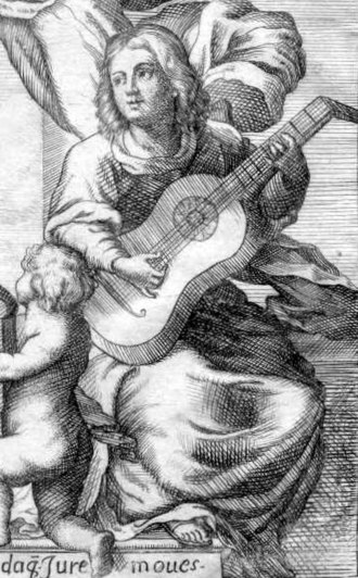 Gaspar Sanz - Gaspar Sanz. A detail from the dedication page of Instrucción de música may be an image of Sanz