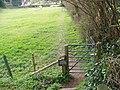 Gate and footpath, Rockbourne - geograph.org.uk - 740350.jpg