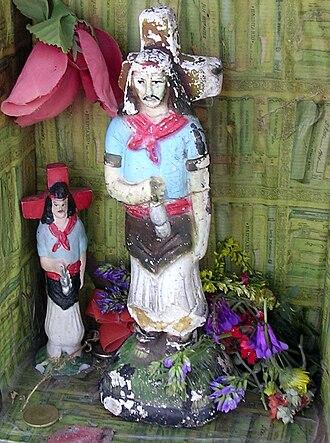 Gauchito Gil - Closer view of Gauchito Gil shrine, Argentina.