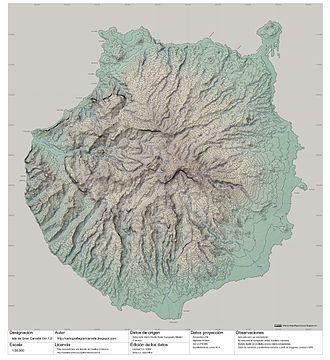 Gran Canaria - Topography of Gran Canaria