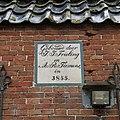 """Gedenksteen met tekst- """"Gebouwd door J.J. Frieling en A.R. Tiemens in 1855"""" - Tinallinge - 20380674 - RCE.jpg"""