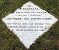 Gedenktafel Am Tegeler Hafen 30 (Tegel) Charles Willard Moore.jpg