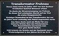 Gedenktafel Fürstendamm 40 (Frohn) Transformator Frohnau.jpg