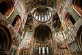 Gelati monastery - green and red murals to dome.jpg