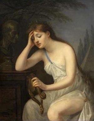Geneviève Brossard de Beaulieu - Geneviève Brossard de Beaulieu, La muse de la Poésie livrée aux regrets que lui laisse la mort de Voltaire, 93 x 73 cm. Louvre, Paris