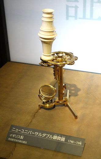 George Adams (instrument maker, elder) - Image: Geo. Adams microscope National Museum of Nature and Science, Tokyo DSC07195