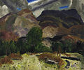 George Bellows - Hunter and Mountains (1920).jpg
